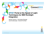 BP407: Portal at the Speed of Light - Techniques For IBM Worklight Integration