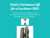 Find a Christmas Gift for a Gardener 2014