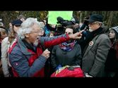 David Suzuki gives fiery speech on Burnaby Mountain to Kinder Morgan protesters