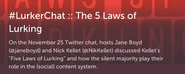 #LurkerChat Storify by @ImMarkBernhardt - November 25, 2014 edition