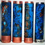 Patina 4 Copper Tube Mods With Salt, Baking Soda and Amonia