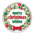 Merry Christmas Wishes Balloon - at PartyWorld Costume Shop