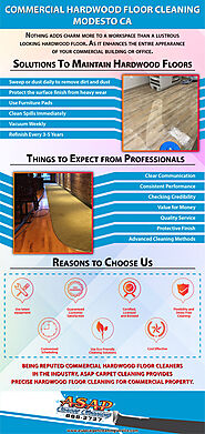 Commercial Hardwood Floor Cleaning Modesto CA [Infographic]