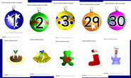 Christmas baubles advent calendar display (SB1061) - SparkleBox