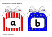 Alphabet on Christmas presents (SB6621) - SparkleBox