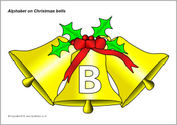 Alphabet on Christmas bells - capitals (SB3530) - SparkleBox