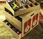 Large Corrugated Ornament Storage Organizer with Dividers - Hold Up to 82 Ornaments! BY JUMBL™