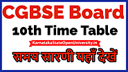 CGBSE 10th Time Table 2021 cgbse.nic.in - CG Board 10th Class Date sheet 2021 Exam Date