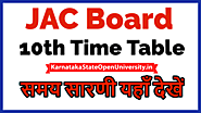 JAC 10th Time Table 2021 www.jac.nic.in - Jharkhand Board 10th Exam Routine 2021