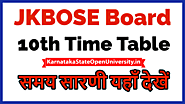 JKBOSE 10th Date Sheet 2021 - JK Board 10th Class Exam Date Summer Private Regular