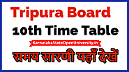 TBSE Madhyamik Routine 2021 tbse.in - Tripura Board 10th Exam Time Table Date Sheet