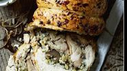 Chicken with garlic and chestnut stuffing