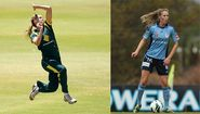 Australian Ellyse Perry has represented Australia at the World Cup in cricket and football