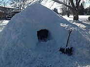 Survive Winter Camping and Snowmobiling with a Quinzhee Snow Shelter