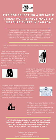 Tips for Selecting a Reliable Tailor for Perfect Made to Measure Shirts in Canada