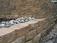 How to calculate amount of retaining wall material