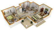 Architecture 3D Floor Plans, 3D Home Design Plans, 3D House Plan Design Services