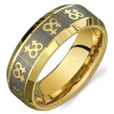 Gold Female Symbols Lesbian Wedding Ring Band Promise Ring