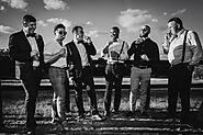 Groomsmen having a smoke