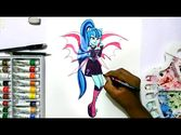 How to draw my little pony equestria girls Sonata Dusk