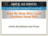 Step by Step Why Local Dentists Need SEO