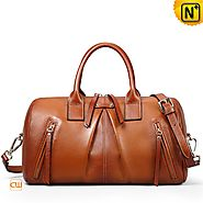 Cwmalls Womens Brown Leather Satchel Bags CW255125