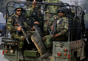 Pakistani Army Troops Arrive to Conduct an Operation