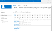 Term Set Glossary App for Microsoft SharePoint 2013