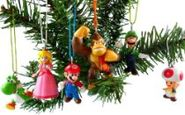 Christmas Ornament Sale - Super Mario Brothers Christmas Ornaments Figurines Pack of 6 with Free Mario Patch*