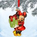 Christmas Ornament Sale - Minnie Mouse Glass Sketchbook Ornament
