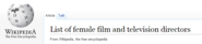 List of female film and television directors - Wikipedia, the free encyclopedia