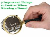 7 Important Things to Look at When Viewing a Home
