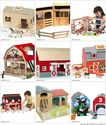 Wooden Barn Toy - Toy Farms for toddlers and little kids