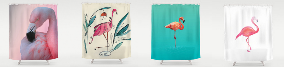 Headline for Pink Flamingo Shower Curtain - Best Designs - Ratings and Reviews