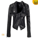 Cropped Leather Jacket uk CW608103 - jackets.cwmalls.com