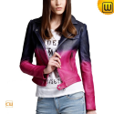 Women Cropped Leather Jacket CW608136 - jackets.cwmalls.com