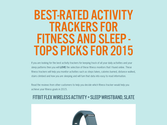 Best-Rated Activity Trackers For Fitness And Sleep - Tops Picks For 2015