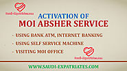 ACTIVATE MOI ABSHER SERVICE REGISTRATION