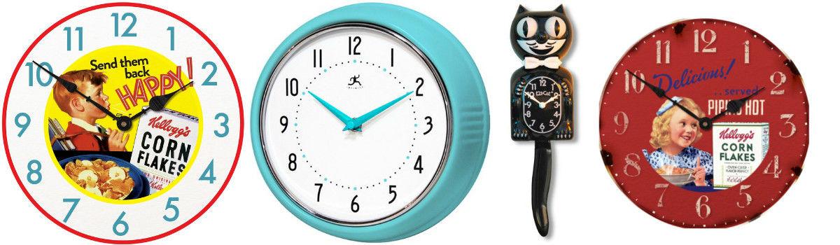 Retro Kitchen Wall Clocks Vintage Wall Clocks A Listly List