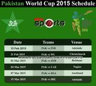 Pakistan Team for ICC Cricket World Cup 2015