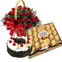 Valentines Day Flower Hampers to India, Send Flowers Hampers to India Online