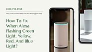 Alexa Echo Flashing Green? 1-8007956963 Alexa Not Working -Fix Now