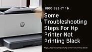 Hp Printer Not Printing In Black/Colors Correctly? 1-8009837116 Get Instant Help