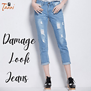 Get Damage Look Jeans for Girls and Ladies