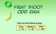 arly Math: Fruit Shoot Odd Even