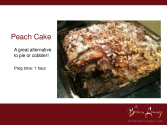 Scrumptious Peach Cake recipe