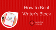 Ask Mandy Q&A: Ways to Beat Writer's Block - ME Marketing Services, LLC