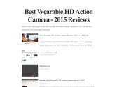 Best Wearable HD Action Camera - 2015 Reviews