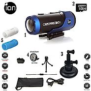 iON AIR PRO Wi-Fi Full HD 1080p Wearable Sports Action Video Camcorder 16GB Complete Suction Mount & Skins System