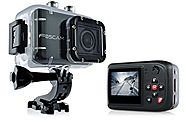 "Foscam AC1080 Action Camera - HD 1080P, 12MP 3x Rapidshot, 170° Viewing Angle, 1.5"" LCD Viewscreen, Built-in Mic & Sp..."